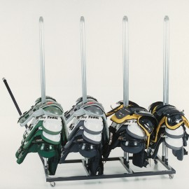 4-Stack Shoulder Pad Storage Rack