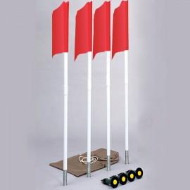 4 Soccer Flag Corner Set