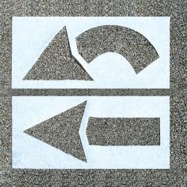 2-Piece Arrow Parking Lot Stencil Set