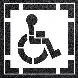 2-Piece D.O.T. Handicap Parking Lot Stencil