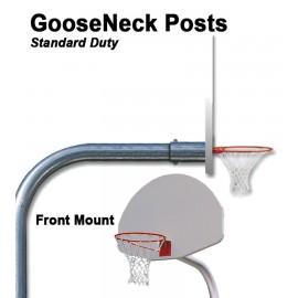 Gared Outdoor Standard Duty Front Mount Gooseneck Post