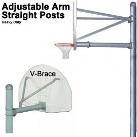 Gared Heavy-Duty Adjustable Arm Straight Post