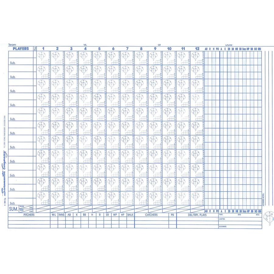 C S Peterson S Scoremaster Baseball Softball Scorebook Sports Advantage