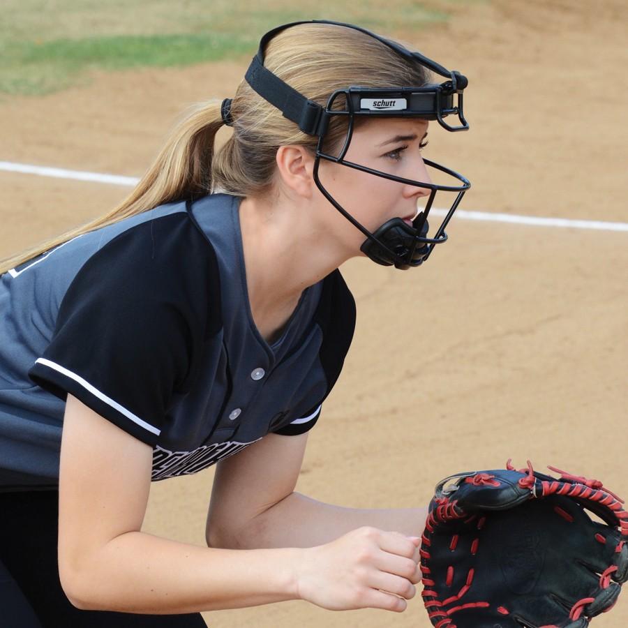 Schutt Titanium Fielder S Guard Safety Mask Softball