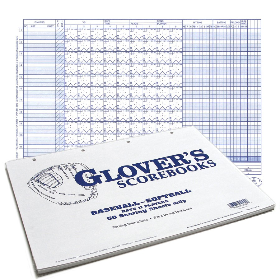 glover s 50 game score sheets with no stats sports advantage