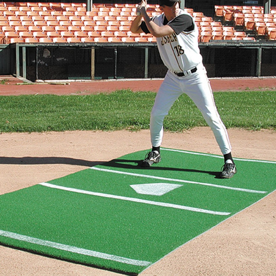 Sports Turf 6 X 12 Baseball Mat With Painted Home Plate