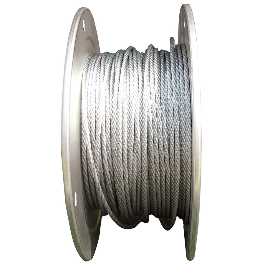 250\' - 1/8\'\' Zinc Coated, Galvanized Steel Cable | Sports Advantage