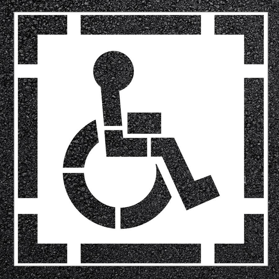 2-Piece D.O.T. Handicap Parking Lot Stencil | Sports Advantage