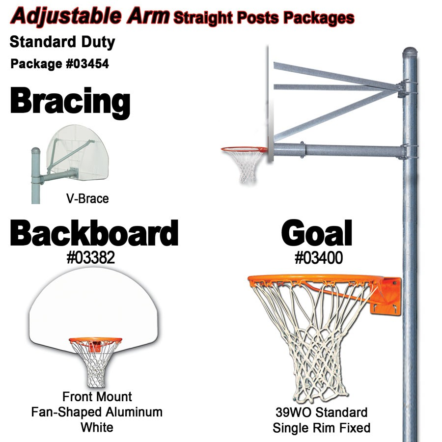 Gared Standard Duty Adjustable Straight Post Package