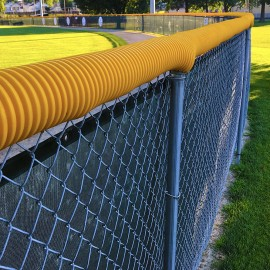 Yellow Poly-Cap Fence Topper
