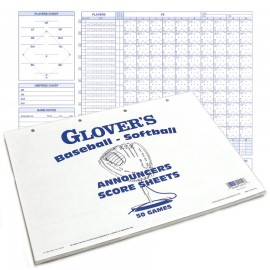 Announcer's Scoresheets Insert (50 games)