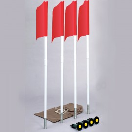 4 Soccer Flag Corner Set