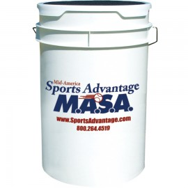 M.A.S.A. Ball Bucket With Padded Seat