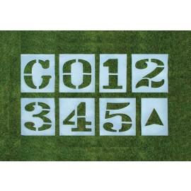 3 1/2' T x 30'' W Premium Football Stencil Set