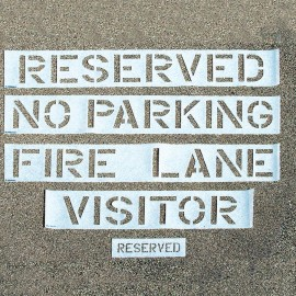 Traffic Control Parking Lot Stencils