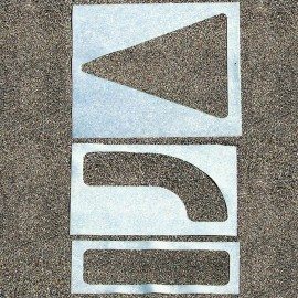 3-Piece Arrow Parking Lot Stencil Set