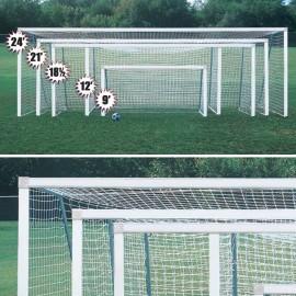 Bison Club Soccer Goal (4'' x 2'' Rect) - 4 1/2'H x 9'W x 2'D x