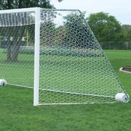 Bison 4mm 6 1/2' x 18 1/2' x 4' x 6 1/2' Soccer Goal Net