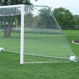 Bison 4mm 4 1/2' x 9' x 2' x 4 1/2' Soccer Goal Net