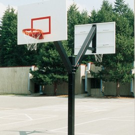 Bison Dbl Side Fixed Ht Ultimate System W/ 60'' Steel Backboard