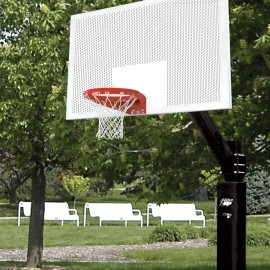 Bison Sgl Side Fixed Ht Ult Sym W/ 72'' Perf Steel Backboard