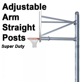 Gared Super-Duty Adjustable Arm Straight Post