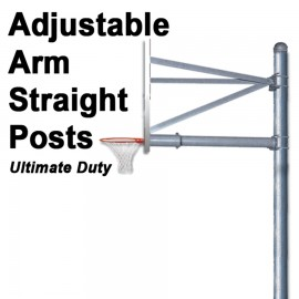 Gared Ultimate-Duty Adjustable Arm Straight Post w/ 6' Safe Play