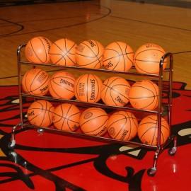 3-Tier Wide Body Basketball Cart (15 Ball Capacity)