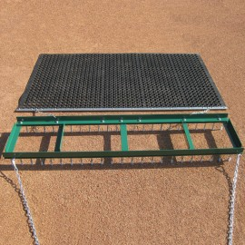 Deluxe Field Conditioner with 6.5' x 4' Eraser Drag and Transport Dolly