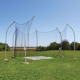 Gill High School Aluminum Discus Cage- 6 Pole