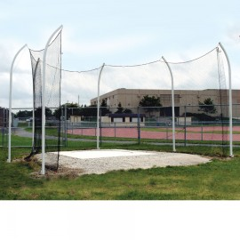 Gill High School Aluminum Discus Cage- 7 Pole w/ Rear Access