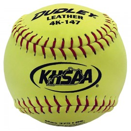 Dudley NFHS Thunder Heat 12'' Leather Fastpitch Softballs KY Stamp