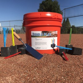 Double Play Bucket with 24 Big League Base Plugs and Digout Tool
