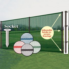 Smartpole Complete Fence Package With Ground Sockets