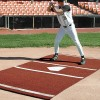 Sports Turf 6' x 12' Baseball Mat with Permanent Home Plate – Green/Clay