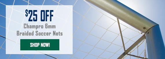 $25 off Champro Soccer Nets