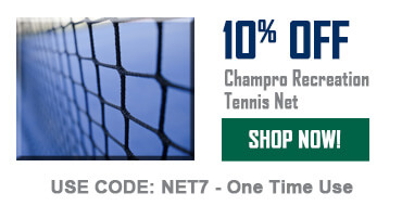 10% off tennis net