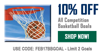 10% Off All Comptition Basketball Goals