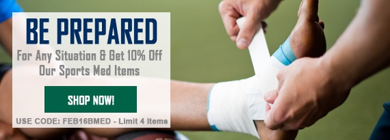 Be Prepared For Any Situation With Our Sports Med Items