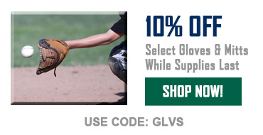 10% off select gloves & mitts