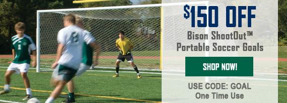 $150 Off Bison Soccer Goals