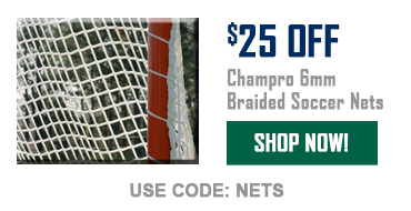 $25 Off Champro 6mm Braided Soccer Nets