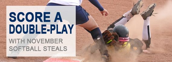 Score A Double-Play with November Softball Steals