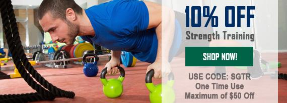 10% Off Strength Training Aids