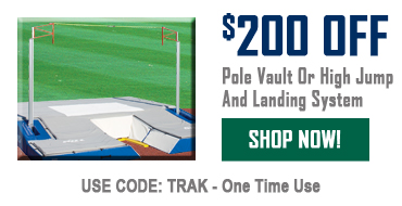 $200 Off Pole Vault or High Jump and Landing System