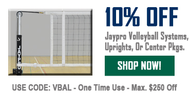10% Off Jaypro Volleyball Systems, Uprights, Or Center Pkgs.
