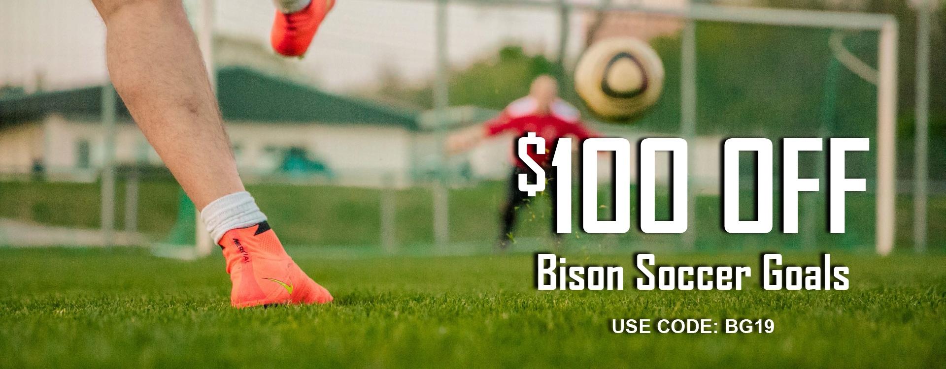 100 off bison goals